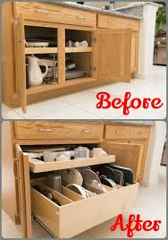 increase access to your kitchencabinets by removing the center stile and installing custom pulloutshelves