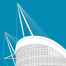 A technical drawing of a building. Manchester Line Art Poster Print Etihad Stadium Exvista In 2020 Poster Prints Posters Art Prints Poster Art