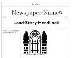 Drive Newspaper Template Classroom Design Template Newsletter Google Docs News Word