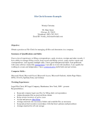 Sample Resume For Clerical Resume Objective For Clerical Position sample resumes for clerical 37