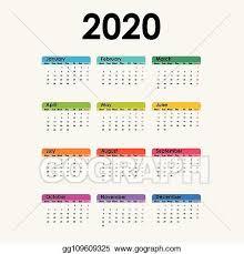 November 2020 Calendar Clip Art Clip Art Vector 2020 Calendar Template Calendar 2020 Set