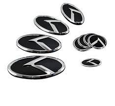 kia logo 2013. Perfect Kia LIGHTKOREA K Logo 3D Emblem Hood Rear Horn Wheel Caps 7pc Set For With Kia 2013 U