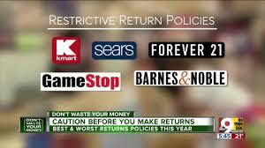 best and worst return policies for 2018 target walmart best kohl s macy s wcpo cincinnati oh