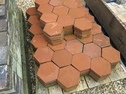 hexagon terracotta tile original reclaimed hexagon terracotta quarry floor tiles hexagonal glazed terracotta tiles