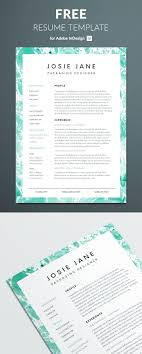 Creative Resume Template For Indesign Perfect Graphic Design 2016
