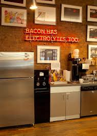 Neon Signs For Home Decor Bacon Has Electrolytes Too Neon Sign Office Kitchen With Exposed 38