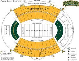 Actual Baylor University Football Stadium Seating Chart 2019