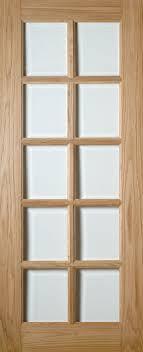 oak bristol 10 pane clear bevel glass the bristol stylish interior oak door