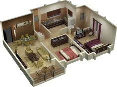 Small Picture 25 More 3 Bedroom 3D Floor Plans 3d Bedrooms and 3d interior design