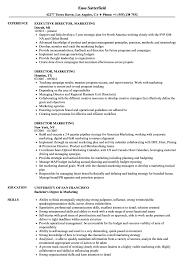 Director Marketing Resume Samples Velvet Jobs