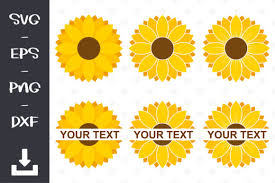 This is a digital download of a word art vinyl decal cutting file, which can be imported to a number of paper crafting programs like cricut explore, silhouette and some other cutting machines. Sunflower Bundle Graphic By Wanchana365 Creative Fabrica