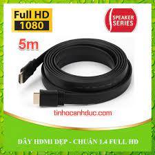 Dây cáp HDMI 5m dẹp chuẩn 1080p cho kết nối Tivi LED laptop Pc | Tin học  Anh Đức | Máy tính chất lượng | Linh kiện giá tốt