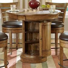 image of round bar table wood