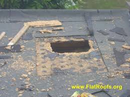 repair hole in roof plywood. Brilliant Hole Image Of Flat Roof Repair In Repair Hole Roof Plywood H