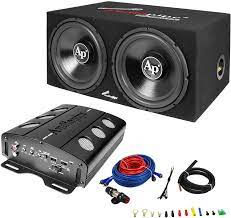 Amazon.com: Audiopipe APSB-1299PP Dual 12 Inch Car Audio Subwoofer Speakers  and Sealed Enclosure, 2 Channel 500 Watt Amplifier, and Wire Installation  Kit : Electronics