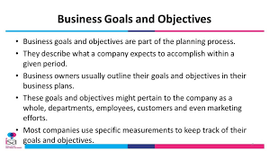 Business Plan Objectives Template Goals And With A Timeline For ...