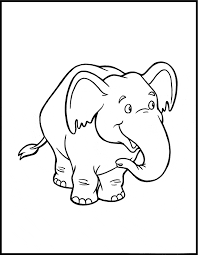 Small Picture Elephant coloring page Animals Town Free Elephant color sheet