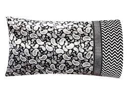 Black Satin Pillowcase Impressive Paisley Satin Pillowcase Gray And Black Paisley Pillow Case Black