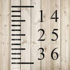 Reusable Growth Chart Stencil Growth Chart Stencil Create The Perfect Diy Growth Height