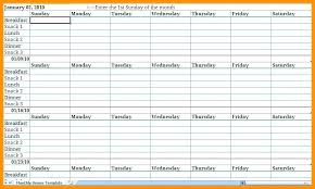 monthly meal planner template meal planner excel monthly meal planner template excel monthly meal