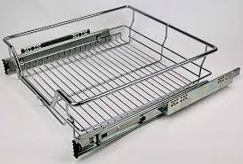 Pull-Out Wire Drawer - 800mm Module - Basket 695mm(W)x140mm(H) - Chrome  Finish [KAWD800CP]