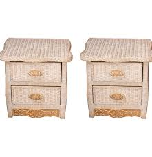 Pier One White Wicker Bedroom Furniture Pier 1 Imports Jamaica Collection Wicker Nightstands Ebth