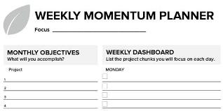Microsoft Weekly Planner Mesmerizing The Weekly Momentum Planner Productive Flourishing