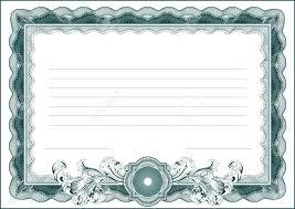 Un Formulario En Blanco Para El Certificado Diploma U Otro
