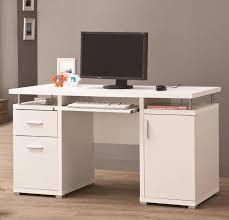 cabinets with drawers and shelves. furniture. white desk with drawers and shelves for house office equipment. rectangular cabinets