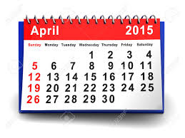 3d Illustration Of April 2015 Calendar Page Stock Photo Picture And