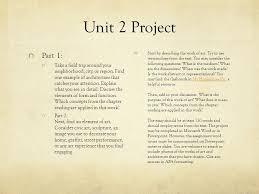 art hu unit time capsule due in unit a letter of 3 unit