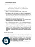 teacher interview essay sharing teachers 323 teacher interveiw questions ms kennedy