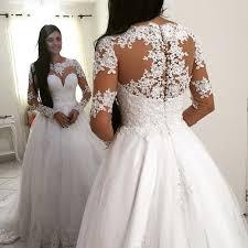 aliexpress com buy princess long sleeve lace ball gown wedding