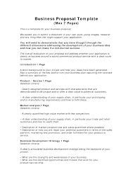 Business Bid Template Business Proposal Templates Examples Business Proposal Template 1