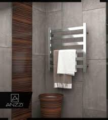 Modern towel rack Bedroom Anzzi Note 6bar Stainless Steel Wall Mounted Electric Towel Warmer Rack In Polished Chrome grey Pinterest Best Modern Towel Warmers Images Bath Towels Bathroom Bathroom