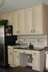 Antique White Kitchen Cabinets With Granite Countertops Kitchen
