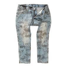 Details About Womens Cotton Water Wash Denim Capri Letters Print Jeans Shorts