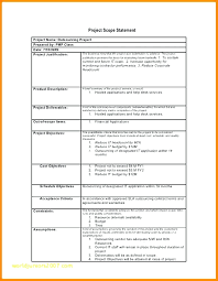 Sample Statement Of Work Template Project Management Scope Work Template Completely New Sample