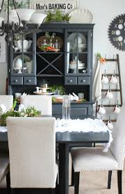 spring dining room decor clean and