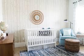 vintage modern woodland inspired nursery crib rug