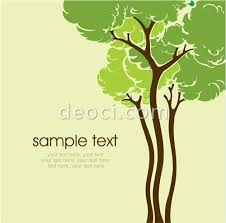 vector cartoon drawing tree book cover green background design template eps file free