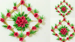 Paper Flower Decor Diy Simple Home Decor Paper Flower Wall Decorations Easy Wall