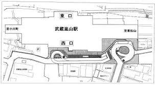 駅西口が生まれ変わります武蔵嵐山駅西口駅前広場の整備計画予想図