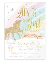 Unicorn Baby Shower Invitation Girls Unicorn Baby Shower Invite