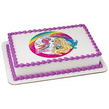 Barbie Dreamtopia 14 Sheet Image Cake Topper Edible Birthday Party