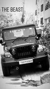 Download Wallpaper Black Thar Jeep ...
