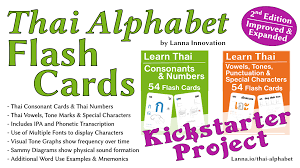 The phonetic alphabet is the list of symbols or codes that shows what a speech sound or letter in this flashcards exercise you are asked to guess the meaning of the abbreviations on the cards. Thai Alphabet Cards Improved Expanded By Lanna Innovation Changes To À¸Š À¸‰ À¸Œ Chau Chang Shau Shaang Etc Kickstarter