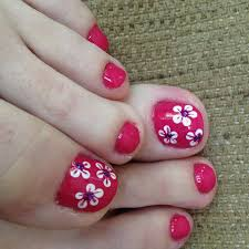 Toe Nail Designs Flowers 60 Flower Nail Designs Pictures With Tutorials Yve Style Com