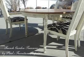 Refinishing A Kitchen Table French Garden Treasures Custom Refinish Dining Table And 5 Chairs