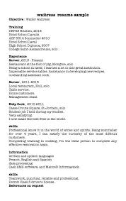 cv for a waiter restaurant hostess resume restaurant waitress resume sample
